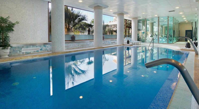 the indoor swimming pool and spa
