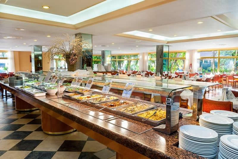 the buffet display