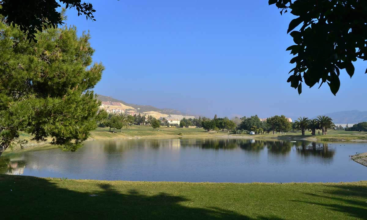 one of several lakes on the Bonalba Golf Course