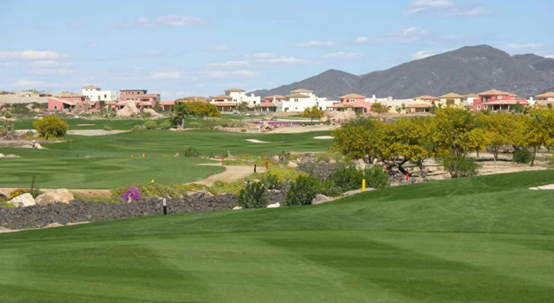 the desert springs golf course with the lodge properties in the background
