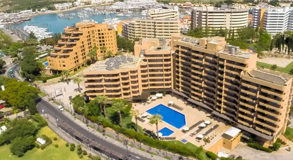 Ariel view of the Dom Pedro Portobello Aparthotel - Vilamoura - Algarve