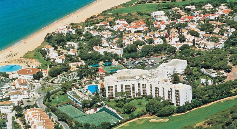 ariel view of the dona filipa hotel