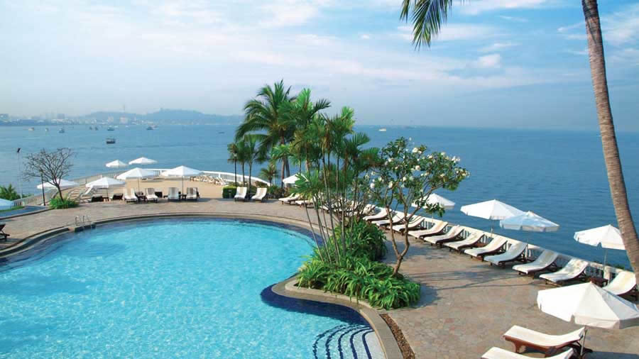 yhe outdoor pool of the dusit thani pattaya hotel