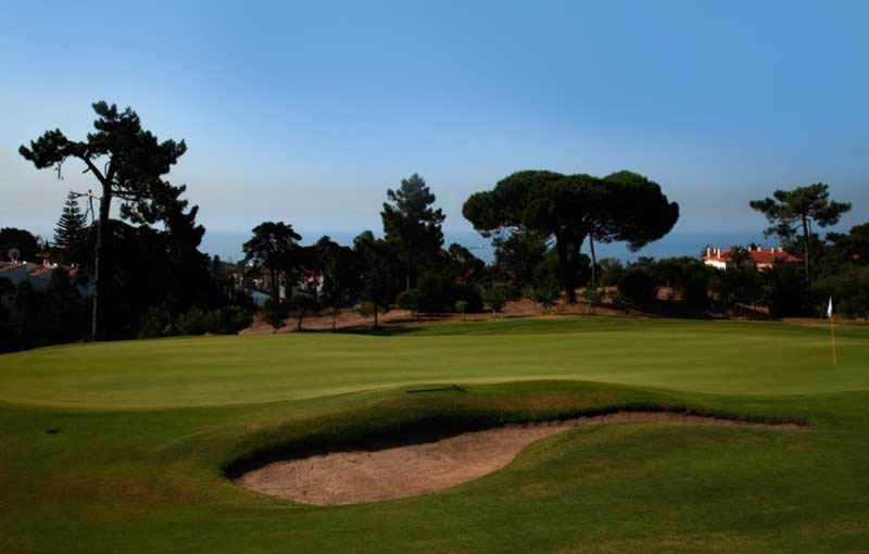 the 11th green overlooking the Estoril coast