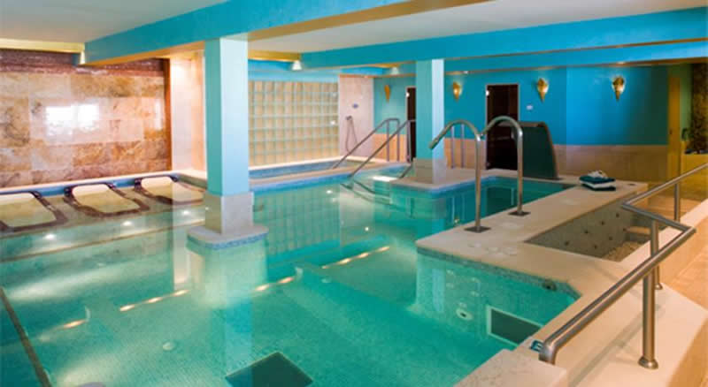 indoor swimming pool and spa