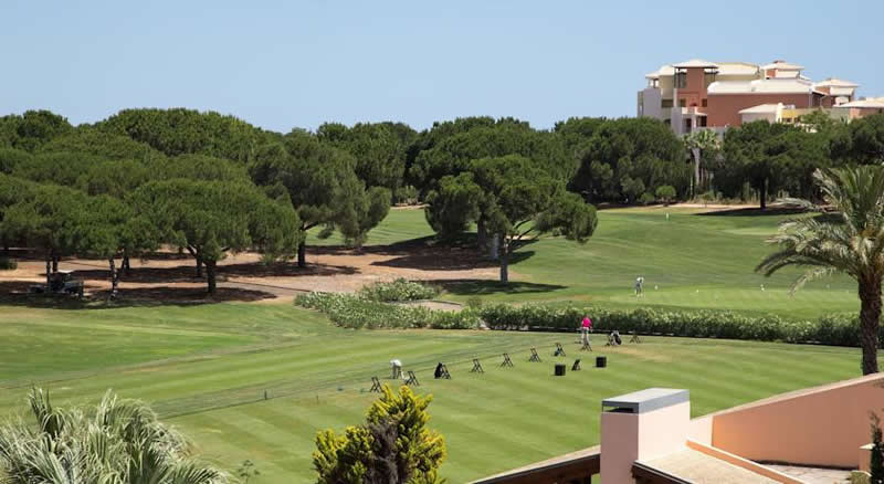 view of the golf course fro the hilton hotel vilamoura