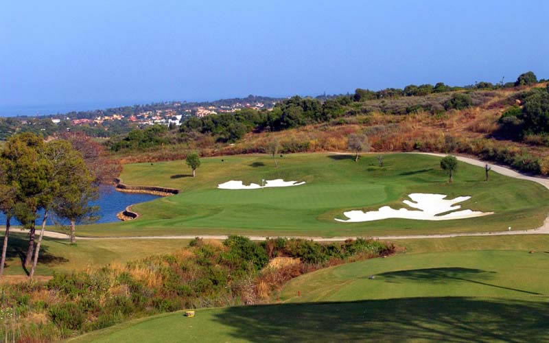 view of the fairway and lake of la reserva golf club