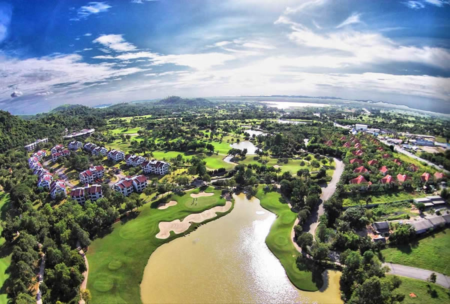 another ariel view of the laem chabang course