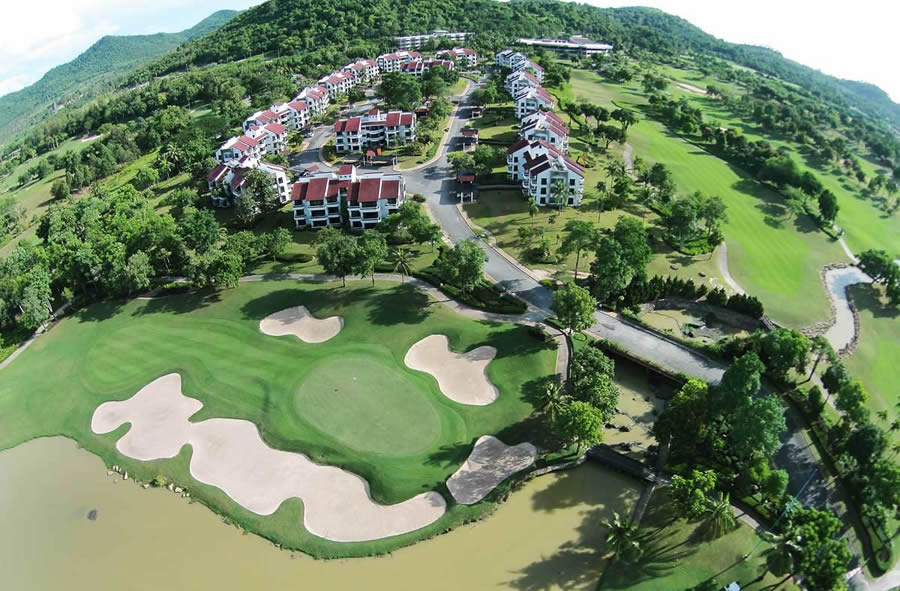 ariel view of the mountain 9 holes