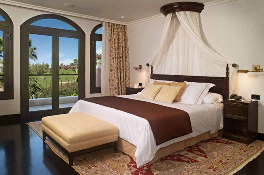 a double room with golf course views