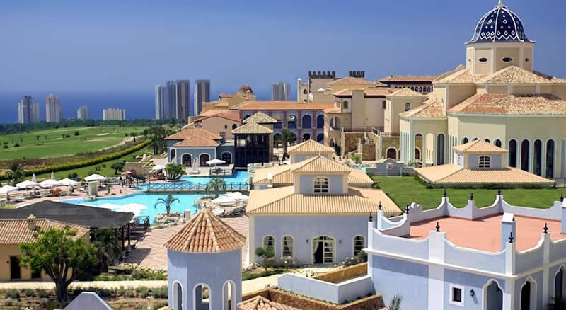 ariel view of the Melia Villaitana Golf Resort Hotel - Benidorm