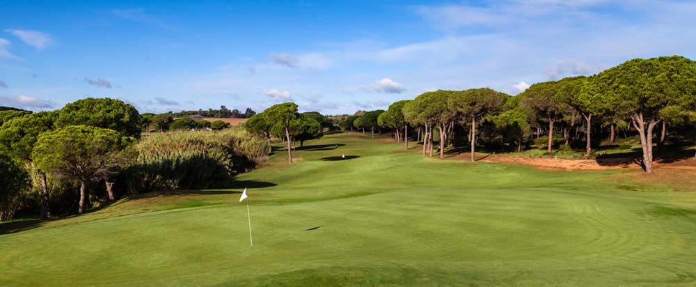 looking down the fairway from the 7th green at La Monacilla
