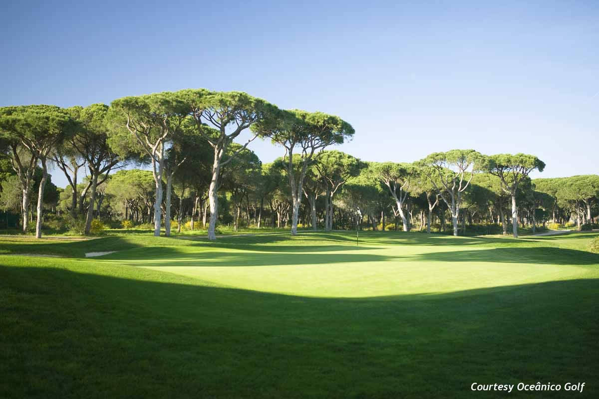 the fairway of the 8th hole at oceanico millennium golf course - vilamoura