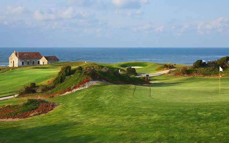 the 15th fairway with the atlantic ocean in the background