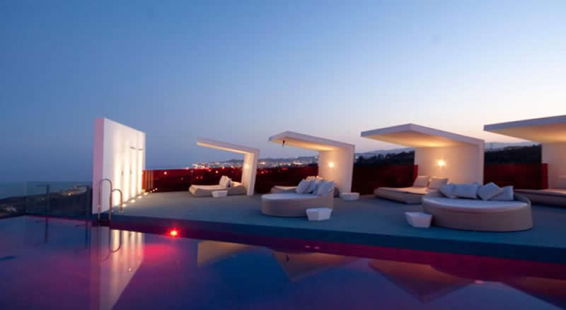 the infinity pool by night