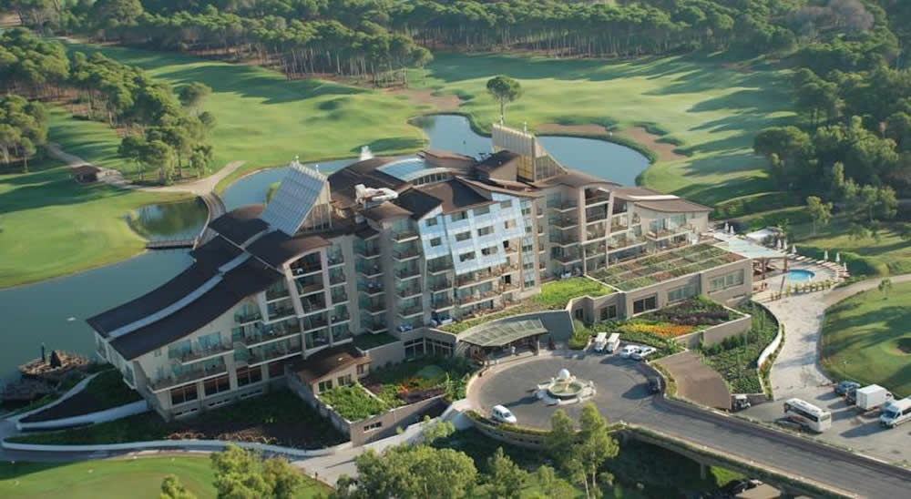 ariel view of Sueno Golf Resort Hotel - Belek, Turkey