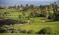 buggies on the 11th fairway at golf del sur