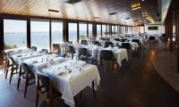 the restaurant with its wonderful sea views