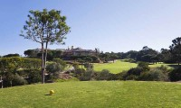 a view of Islantilla Golf Resort Hotel from the 18th tee