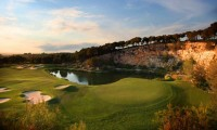 the 18th green at lumine hills