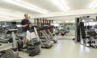 exwercising in the gym at the Marina Club