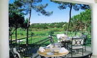 a view of the golf course from the terrace