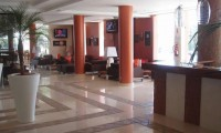 the foyer of the hotel