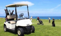 a buggy on the 13th fairway