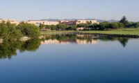 the Quinta da Marinha Hotel viewed from across the lake and golf course
