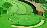 ariel view of the driving range