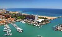 a view of the marinotel and the vilamoura marina