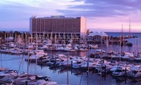 sunset in vilamoura marina