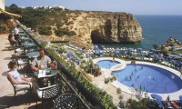 drinks on the terrace overlooking the pool