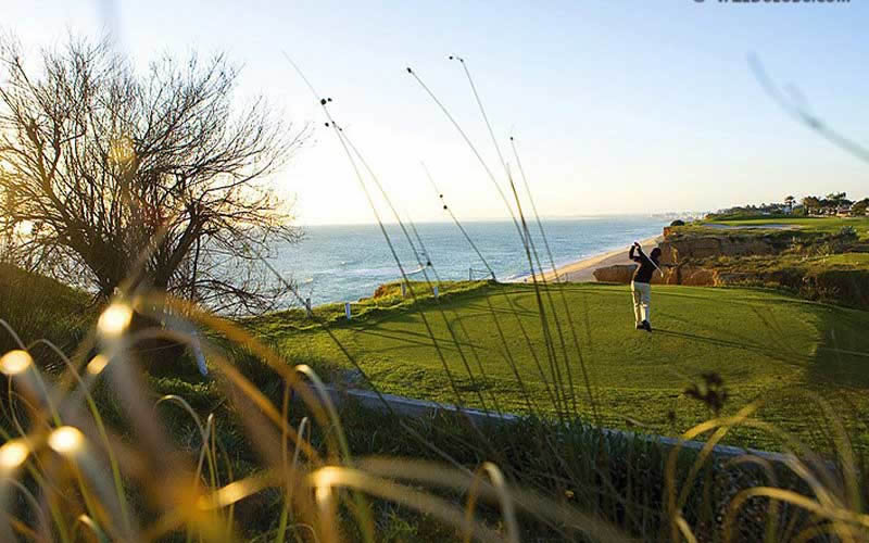 teeing off on the 16th at vale do lobo