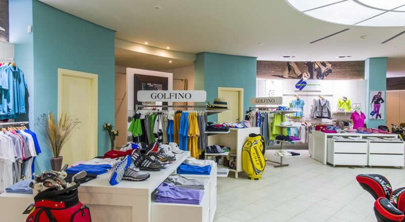 the hotel's golf shop