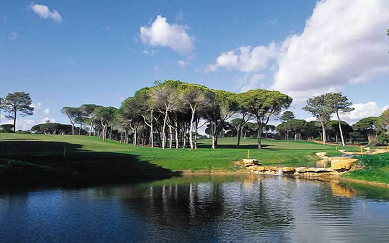 one of the lakes on the vila sol golf course