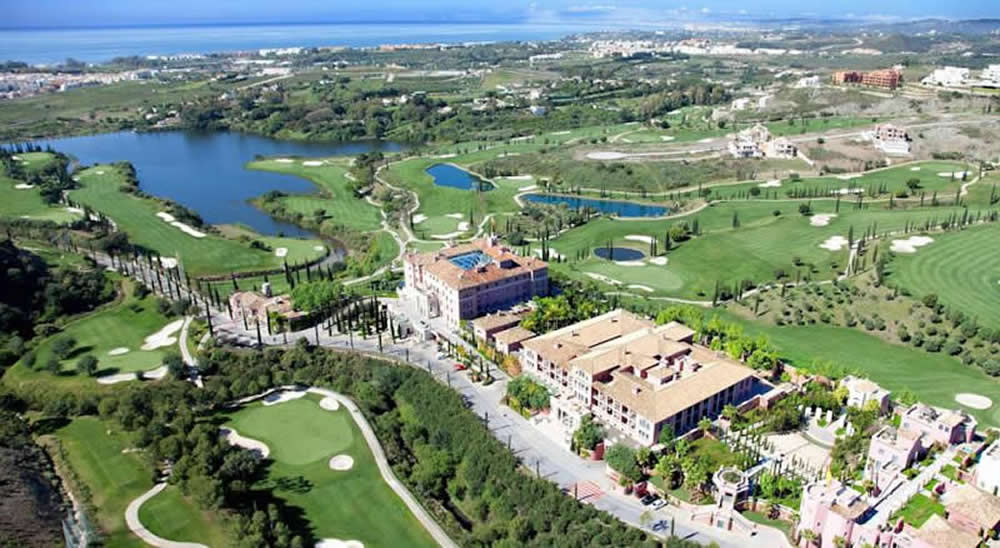 ariel view of the villa padierna palace hotel